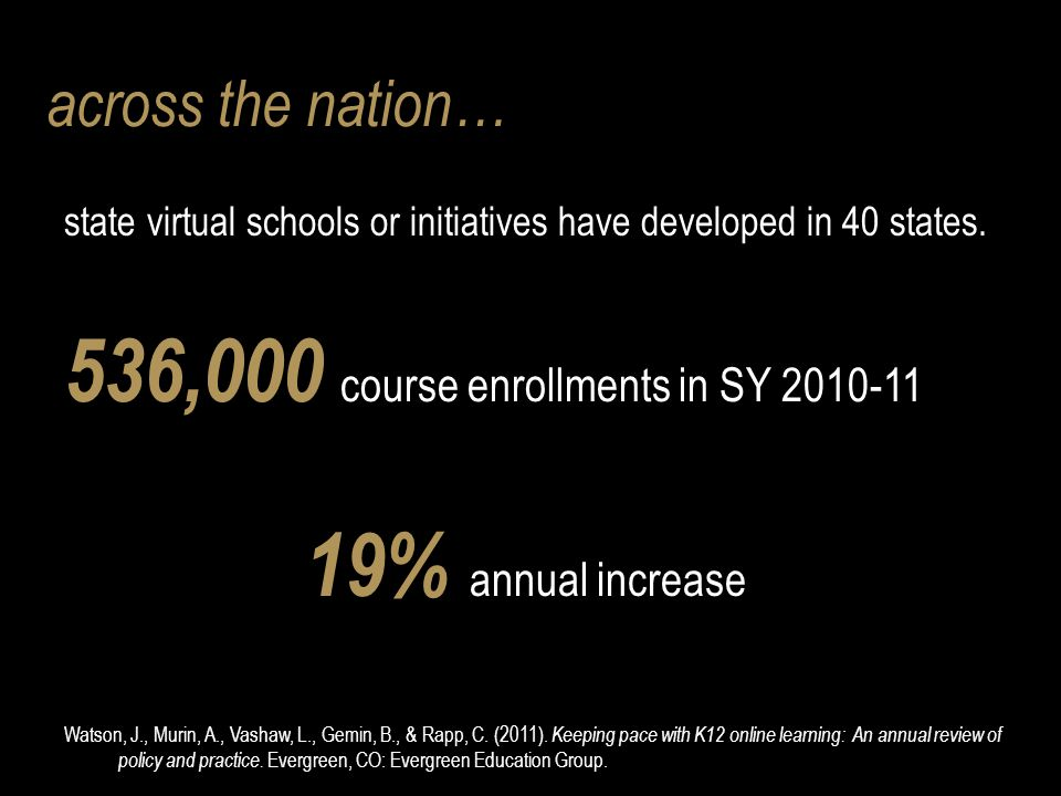 state virtual schools or initiatives have developed in 40 states.