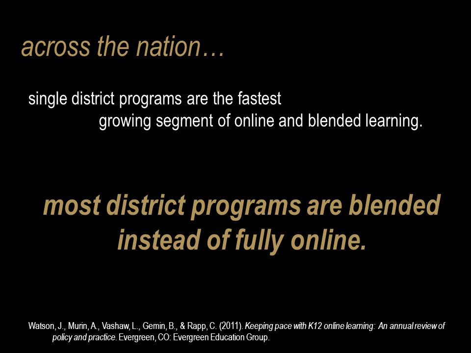 A Not-So-New Imperative: The Urgency to Adopt Online Learning Options Christopher Harrington, Ed.D.
