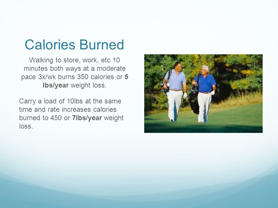 9.Standing or Walking at work Standing vs sitting at work burns an extra 200 calories per day.
