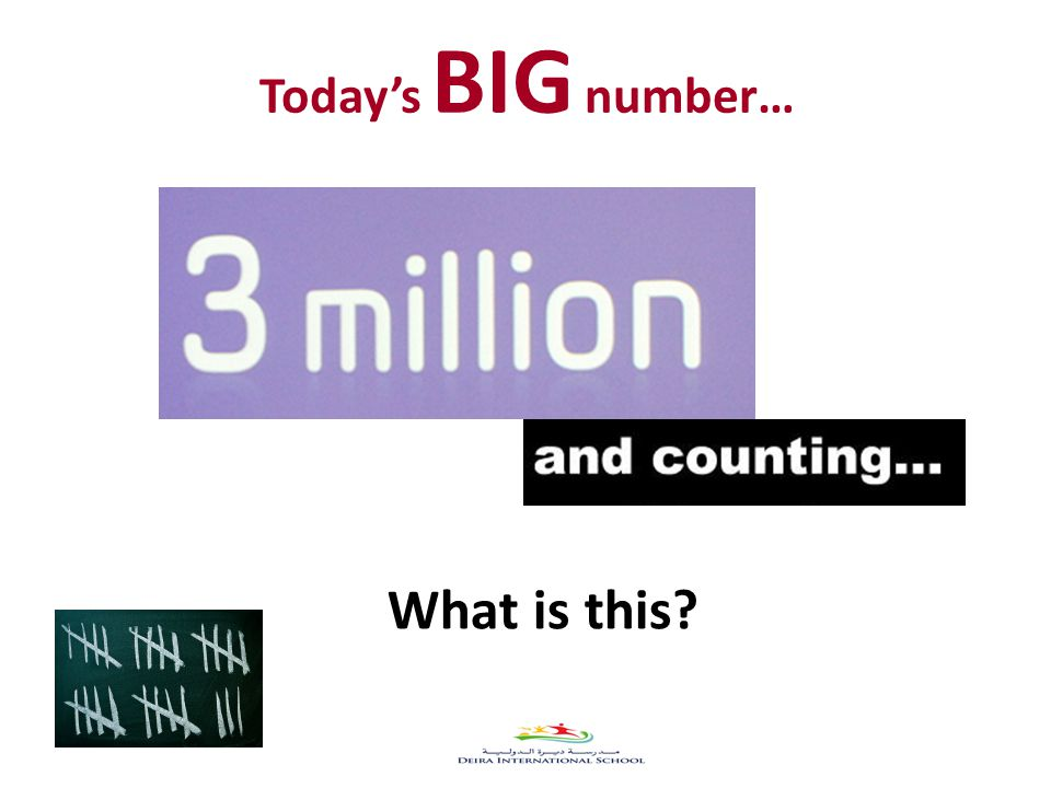 Today's BIG number… What is this