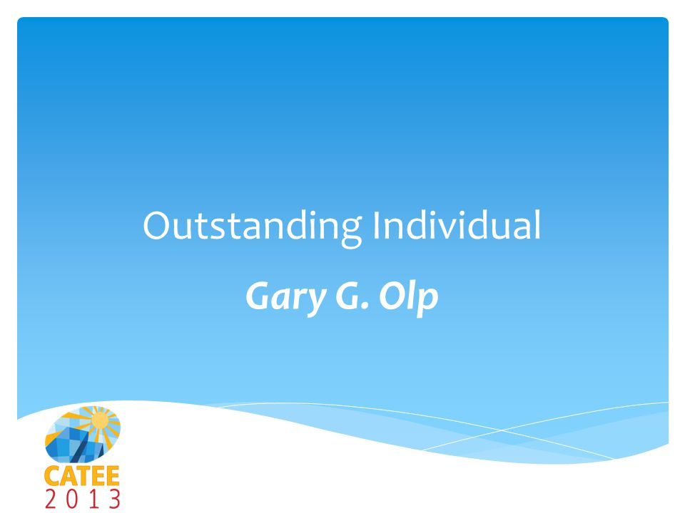 Outstanding Individual Gary G. Olp