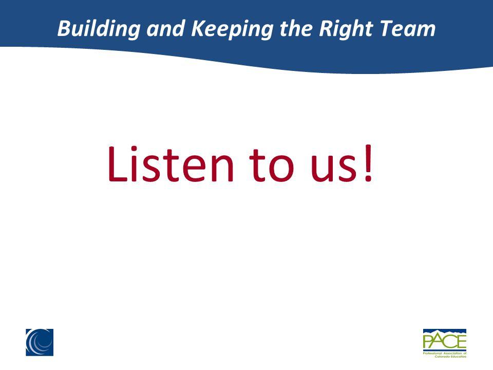 Listen to us!