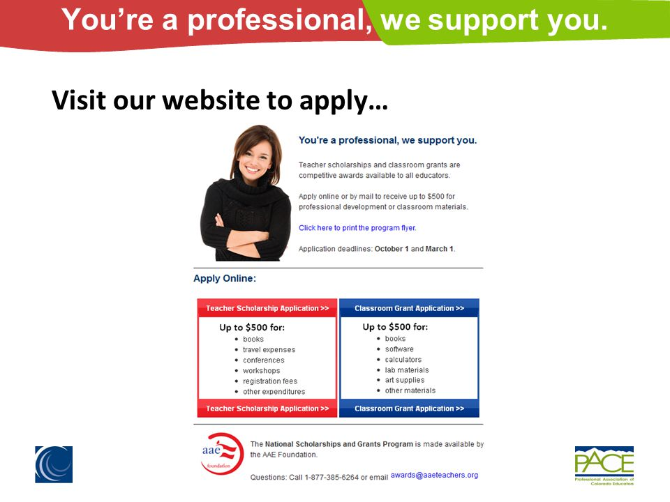 You're a professional, we support you. Visit our website to apply…