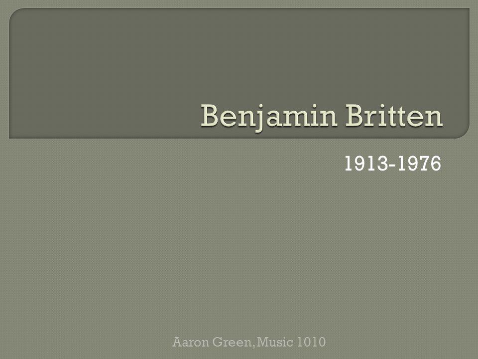 1913-1976 Aaron Green, Music 1010