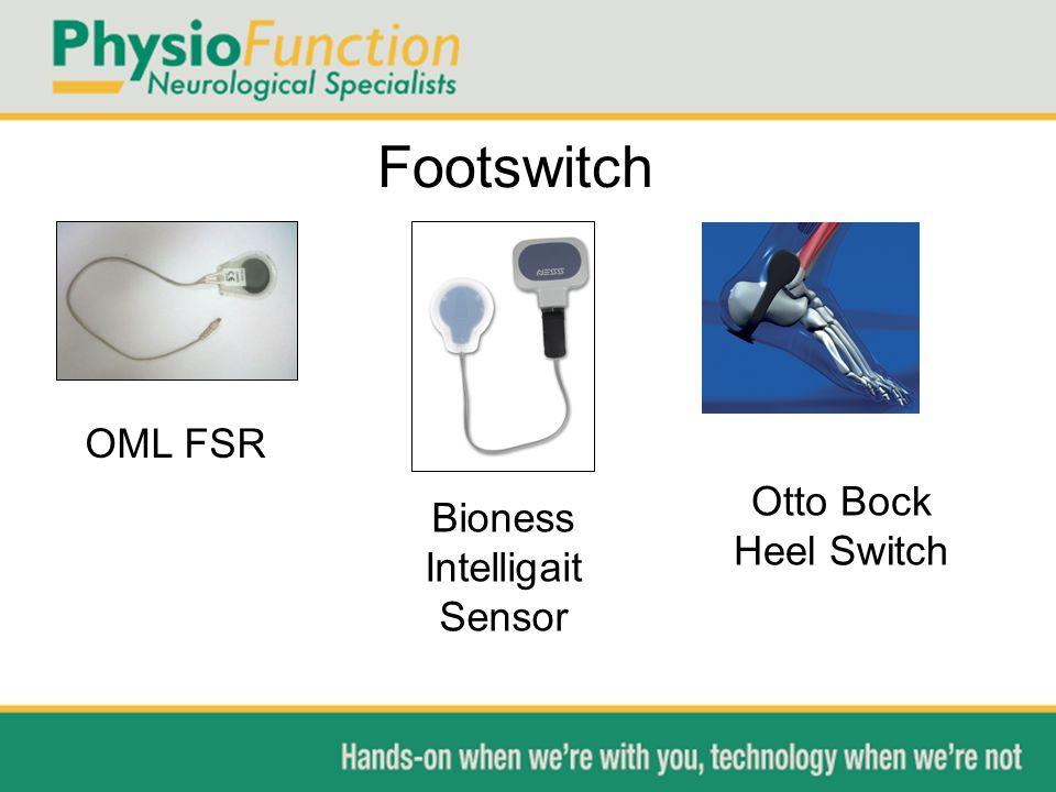 Footswitch OML FSR Bioness Intelligait Sensor Otto Bock Heel Switch