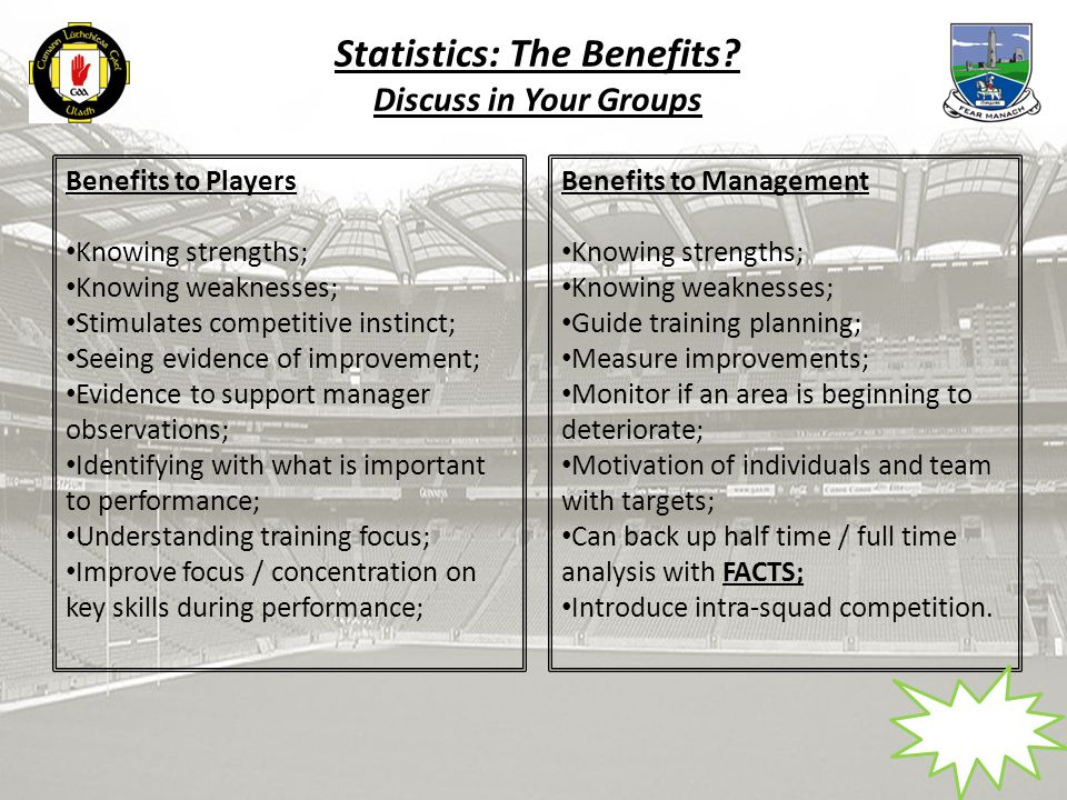 Statistics: The Benefits.