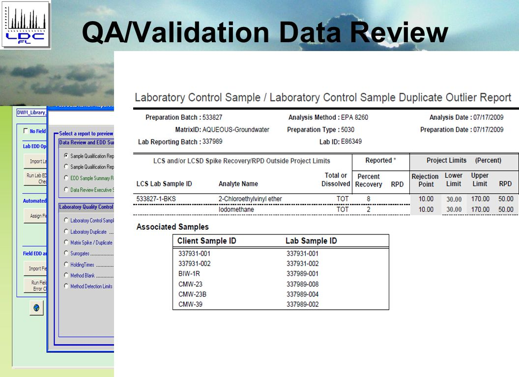 QA/Validation Data Review