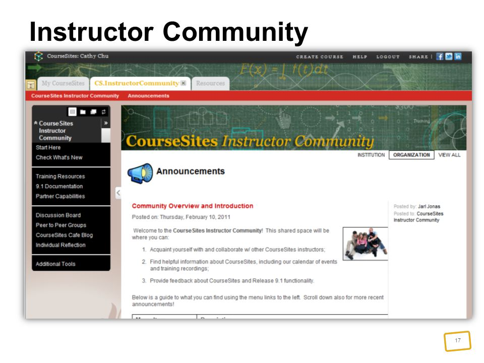 17 Instructor Community