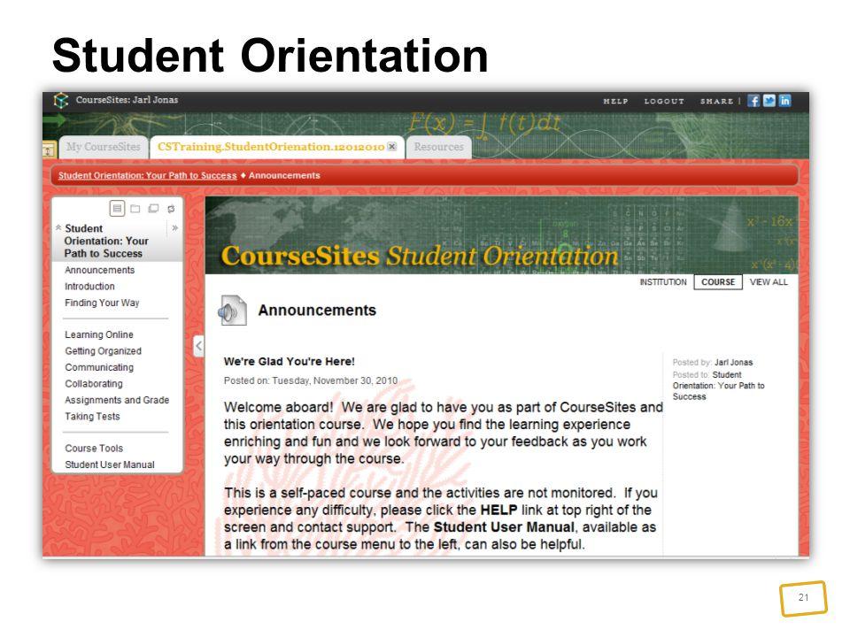 21 Student Orientation