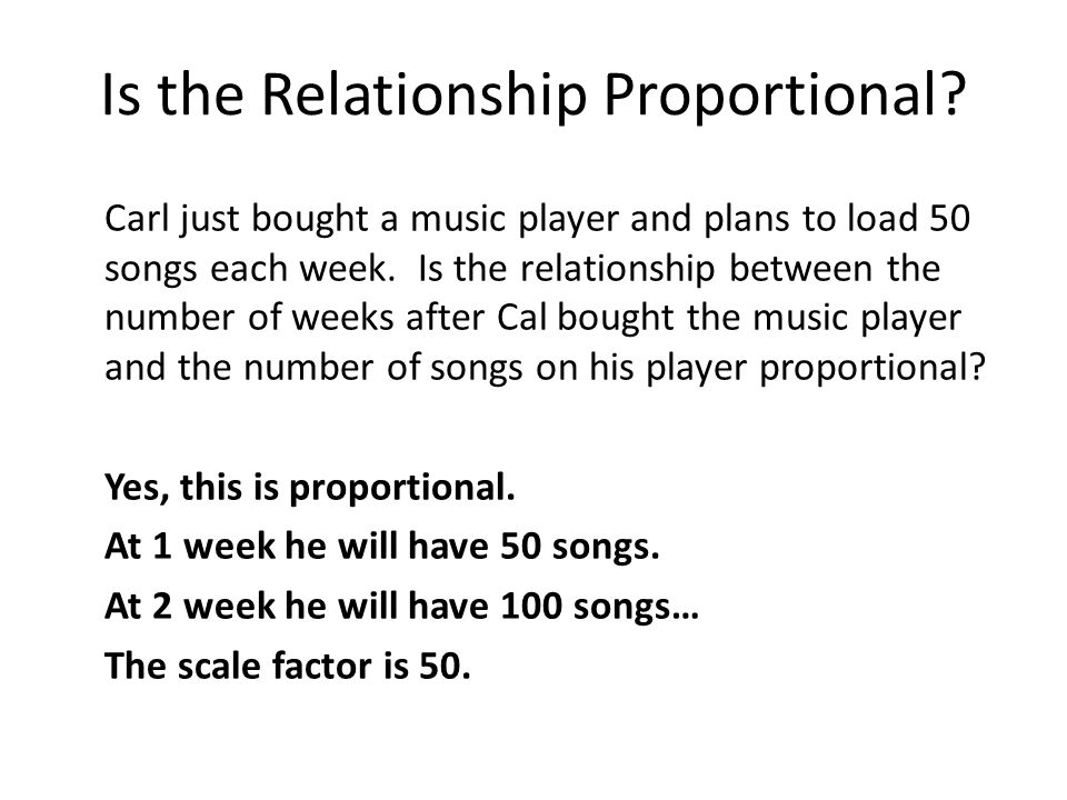 Is the Relationship Proportional.