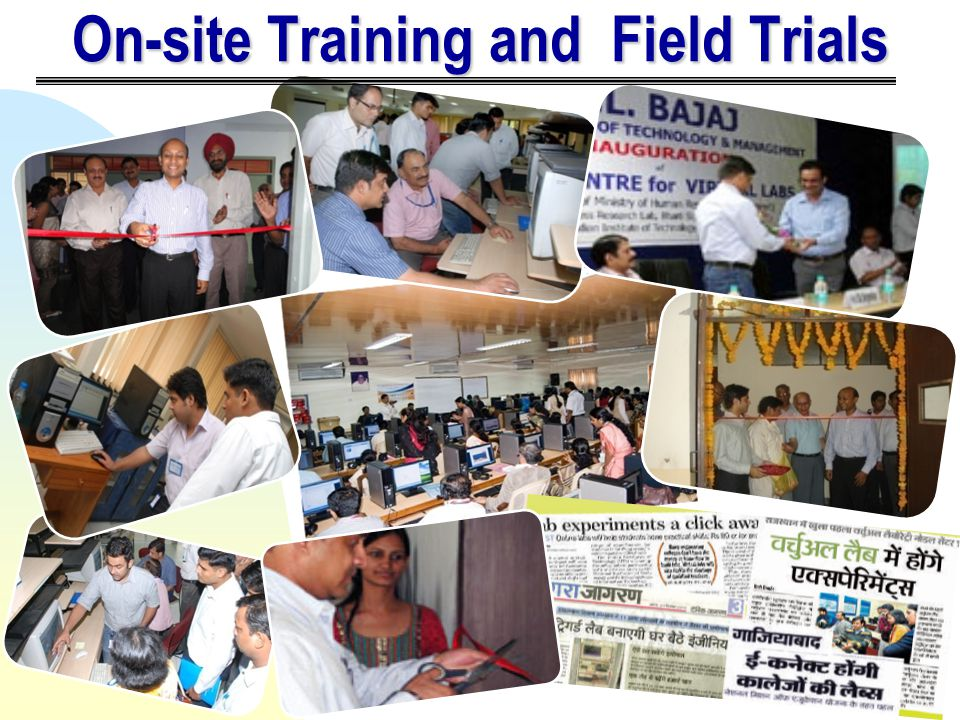 On-site Training and Field Trials