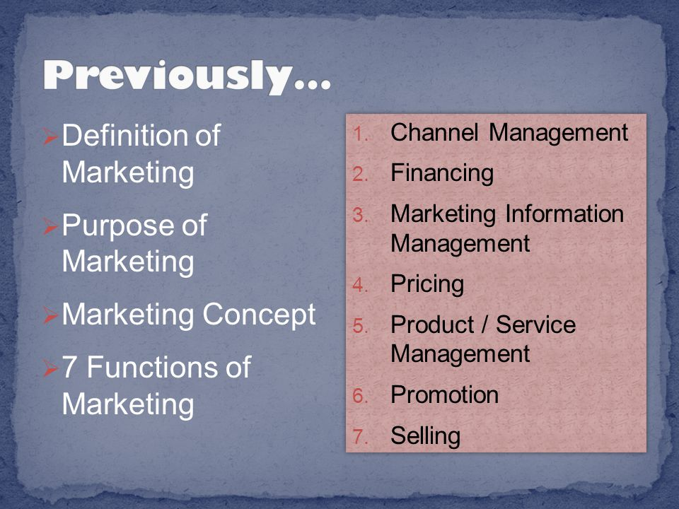 Includes marketing research You can't sell your product if you don't know who your customers are.