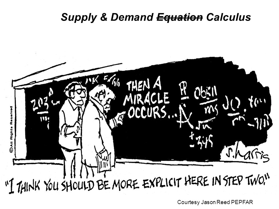 Supply & Demand Equation Calculus Courtesy Jason Reed PEPFAR