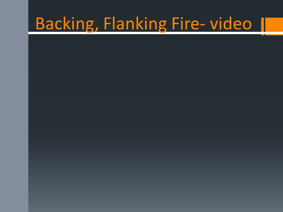 Backing, Flanking Fire- video