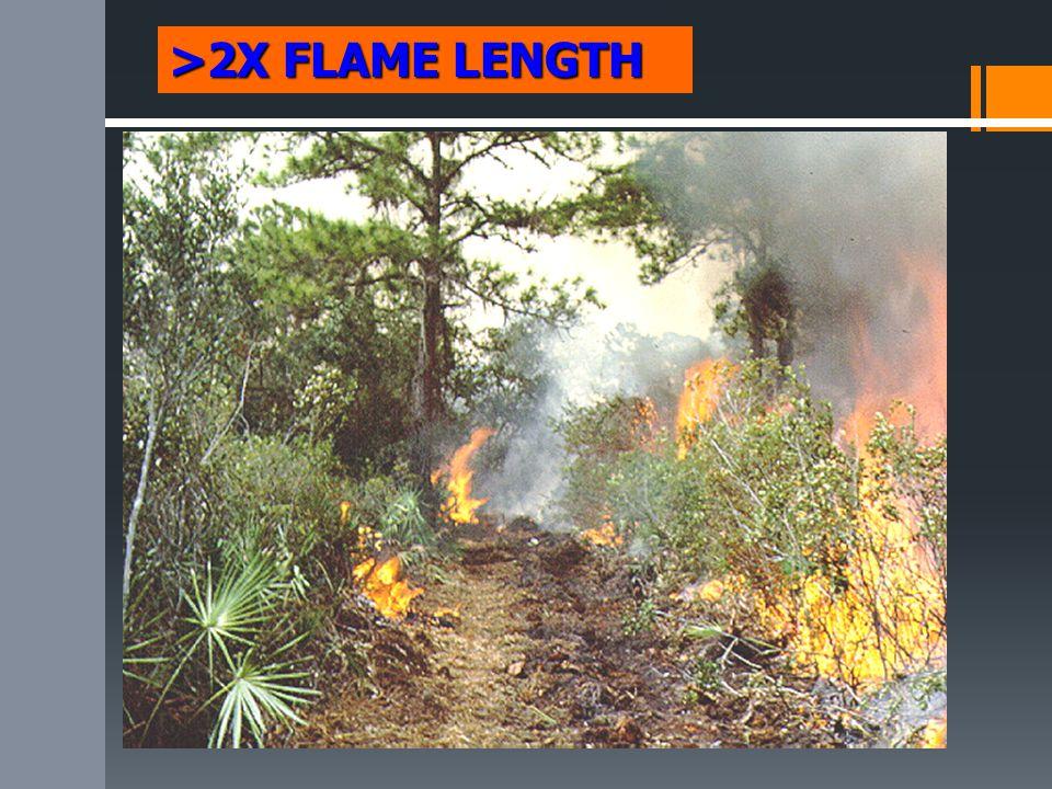 >2X FLAME LENGTH