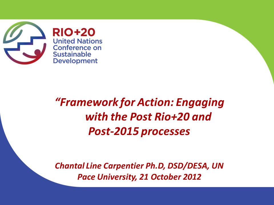 Outline Two mandated processes: MDGs & SDGs One development framework.