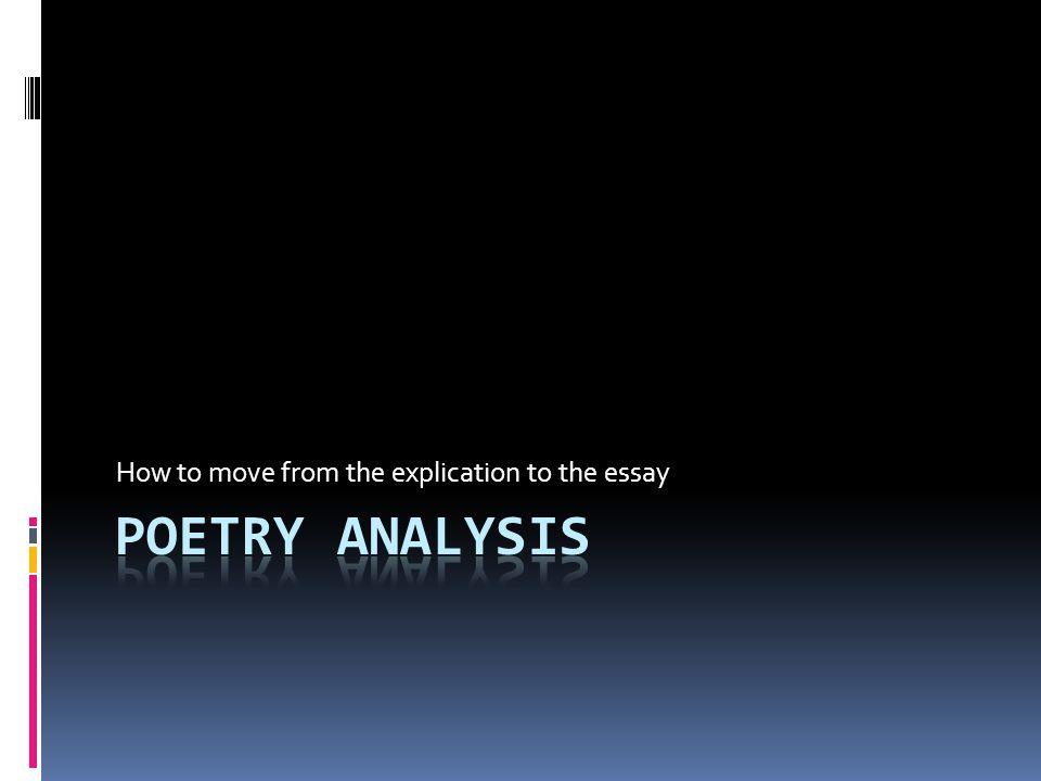 define explication essay