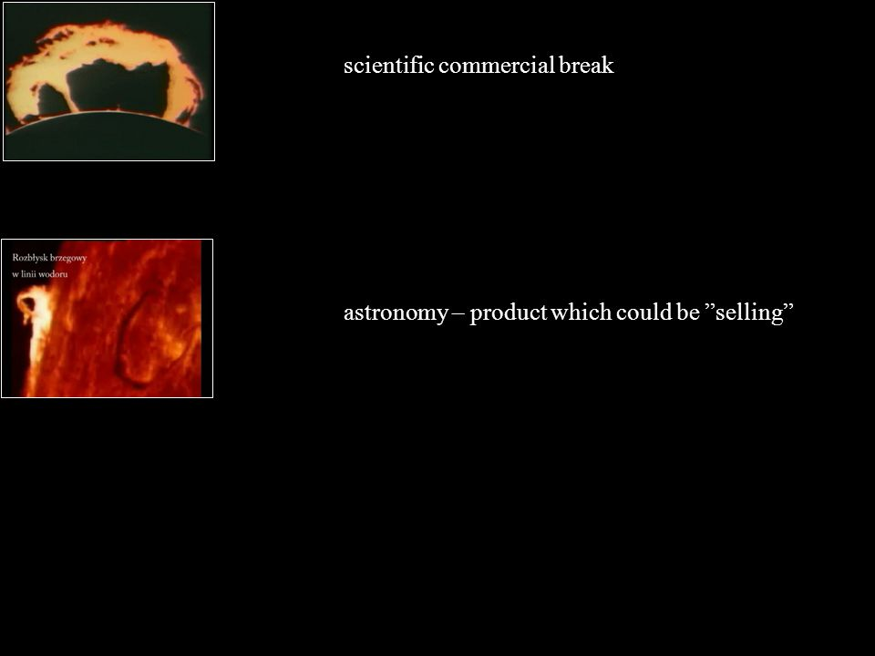 astronomy – product which could be selling scientific commercial break