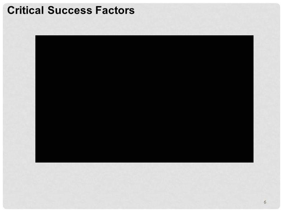 6 Critical Success Factors