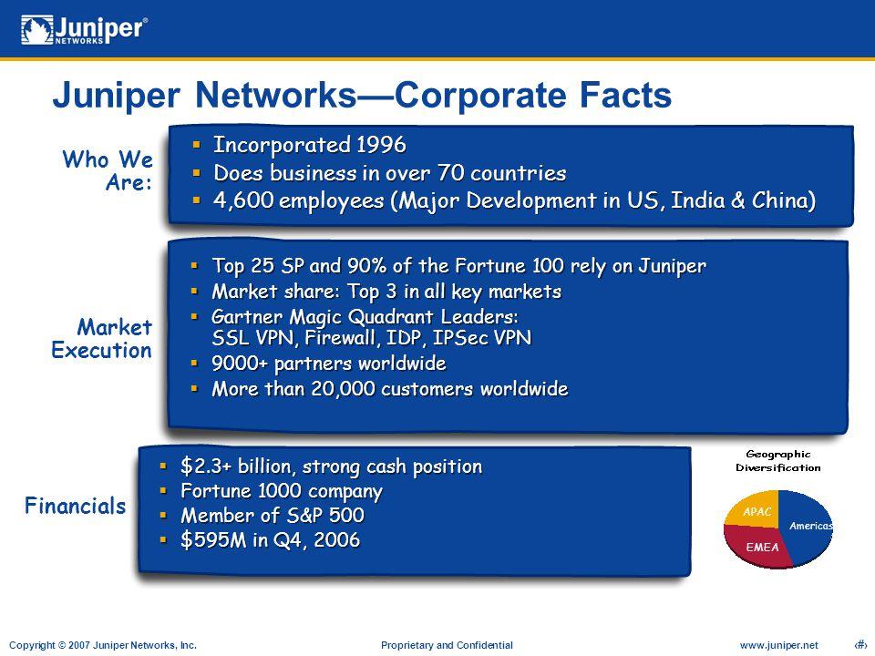 Copyright © 2007 Juniper Networks, Inc. Proprietary and Confidentialwww.juniper.net 24 Thank You!