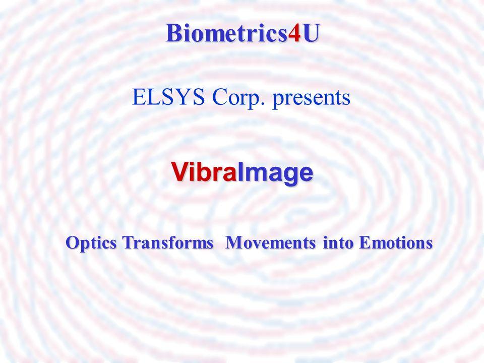ELSYS Corp. presents Biometrics4U VibraImage Optics Transforms Movements into Emotions