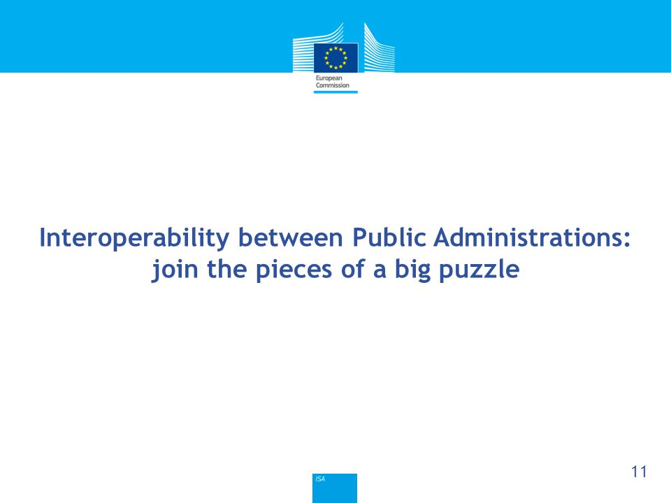 Click to edit Master title style 11 Interoperability between Public Administrations: join the pieces of a big puzzle
