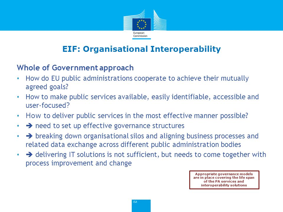 Click to edit Master title style Whole of Government approach How do EU public administrations cooperate to achieve their mutually agreed goals? How t