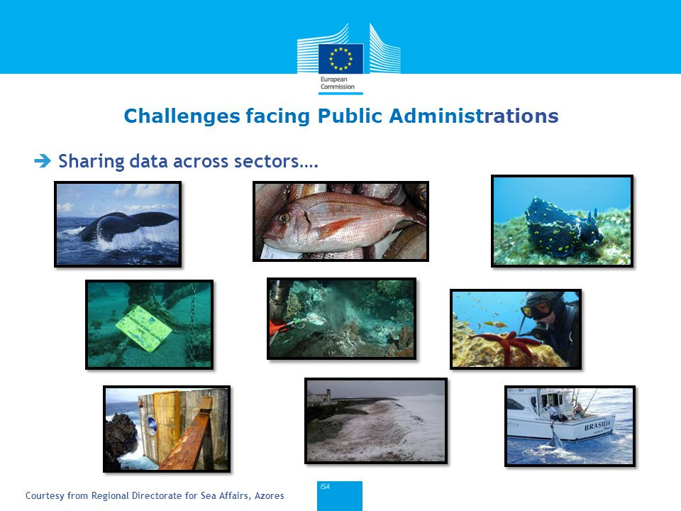 Click to edit Master title style 6  Sharing data across sectors…. Challenges facing Public Administrations Courtesy from Regional Directorate for Sea