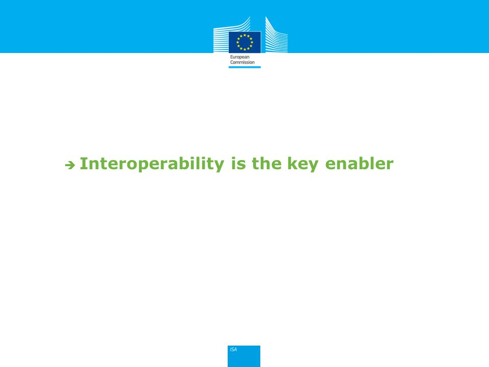 Click to edit Master title style 9  Interoperability is the key enabler