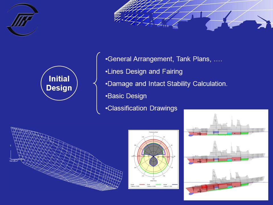 Initial Design General Arrangement, Tank Plans, ….