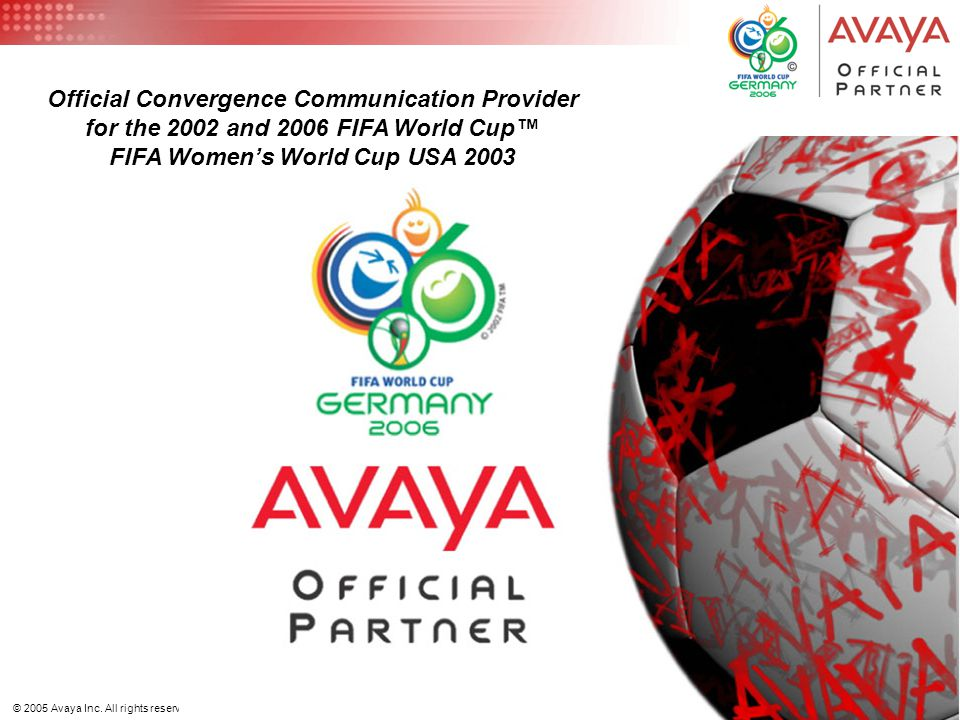 14 © 2005 Avaya Inc. All rights reserved.