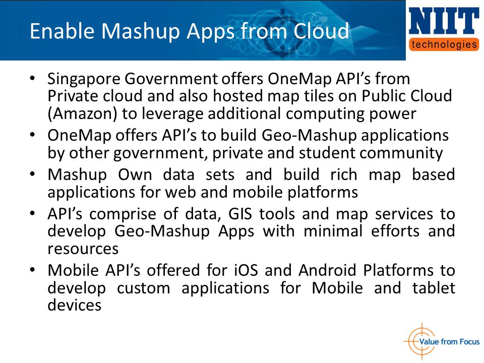 Singapore Government offers OneMap API's from Private cloud and also hosted map tiles on Public Cloud (Amazon) to leverage additional computing power