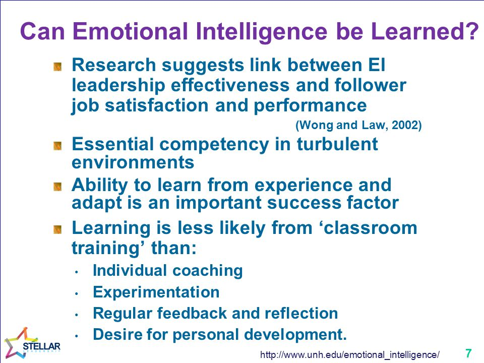 7 Can Emotional Intelligence be Learned.