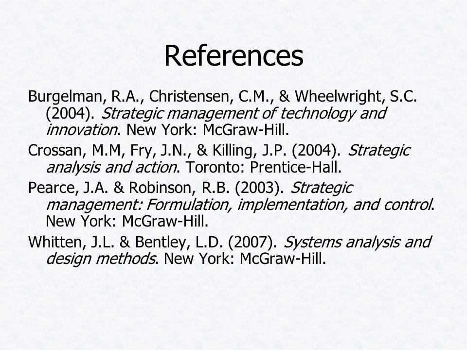 References Burgelman, R.A., Christensen, C.M., & Wheelwright, S.C.