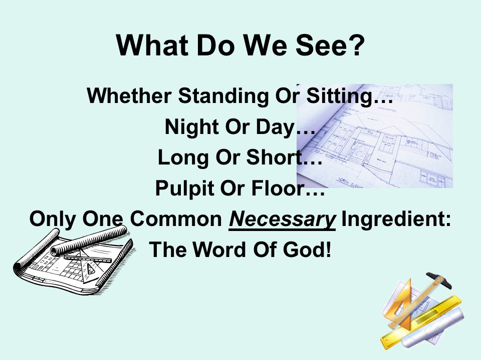 What Do We See.