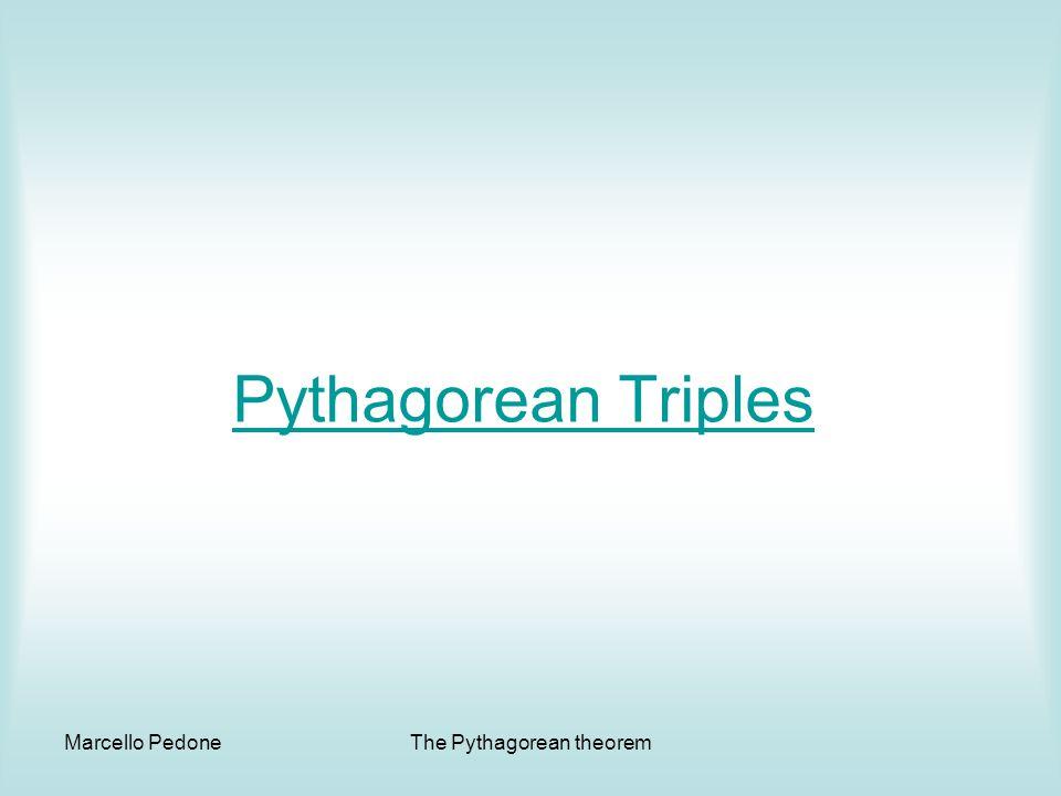 Marcello PedoneThe Pythagorean theorem Pythagorean Triples