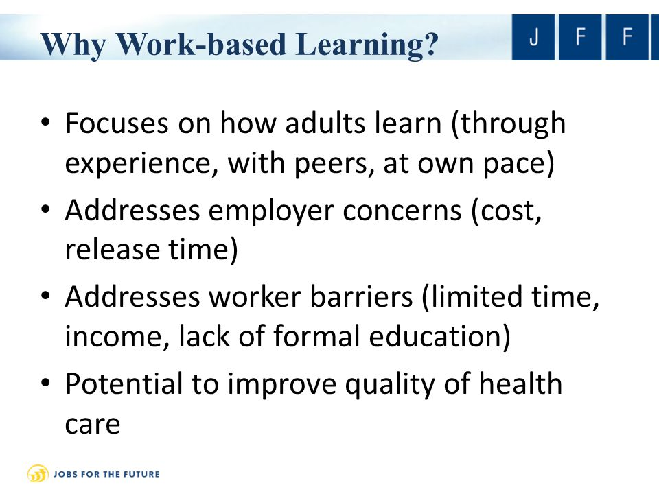 Why Work-based Learning.