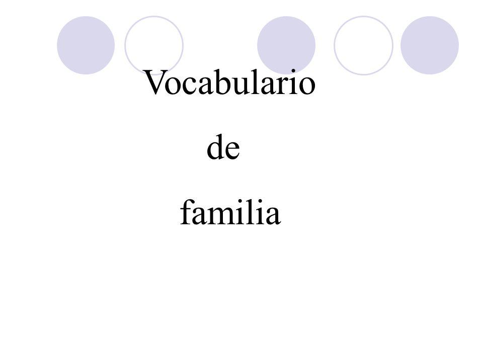Vocabulario de familia