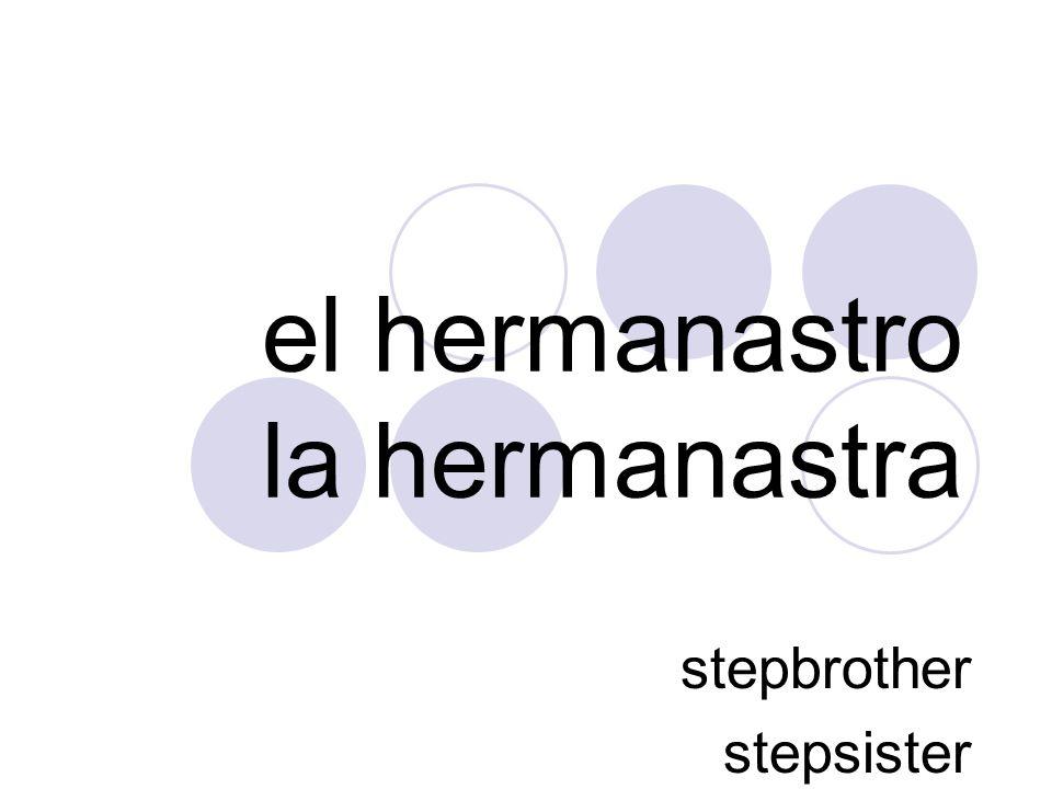 el hermanastro la hermanastra stepbrother stepsister