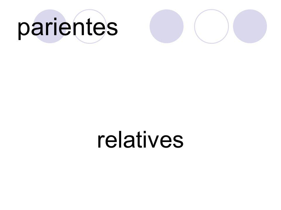 parientes relatives
