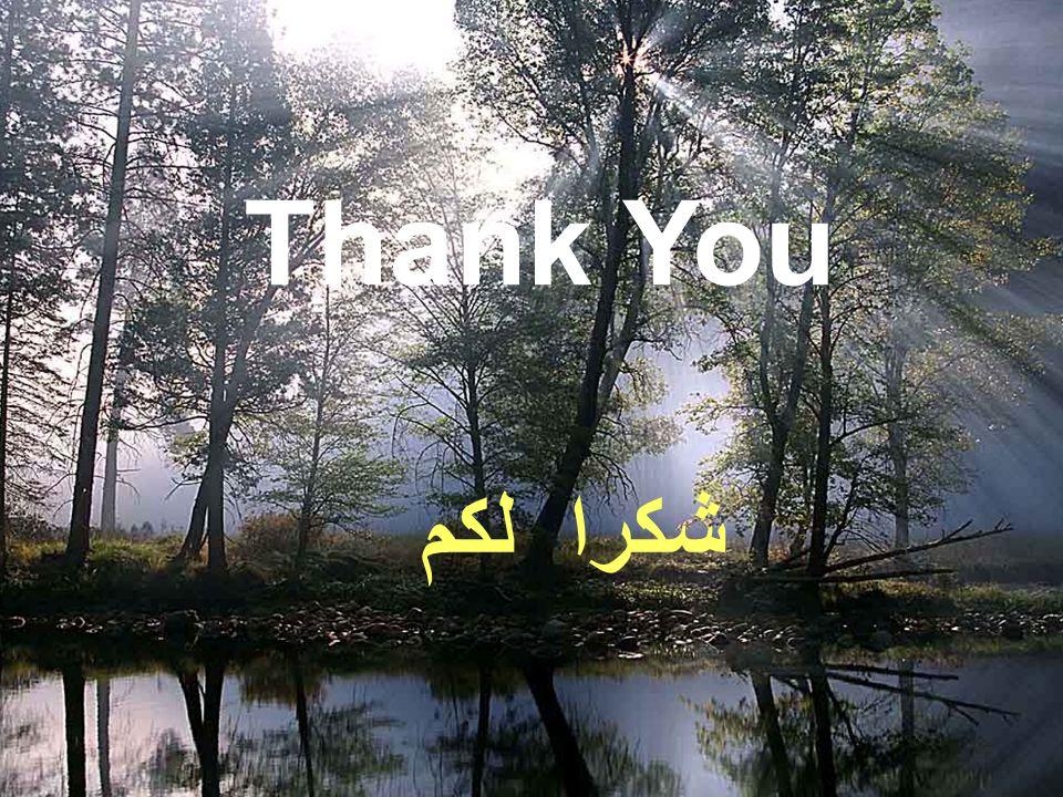 Thank You شكرا لكم