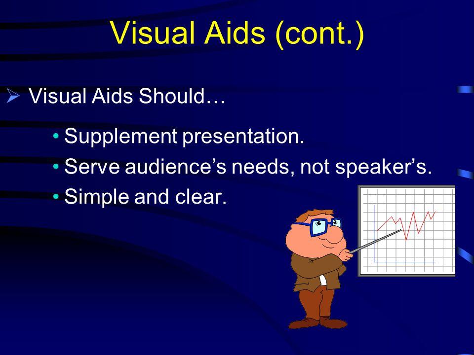 Visual Aids  The Purpose of Using Visual Aids: Enhance Understanding.