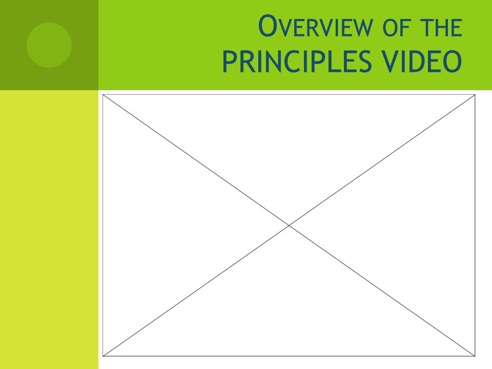 O VERVIEW OF THE PRINCIPLES VIDEO