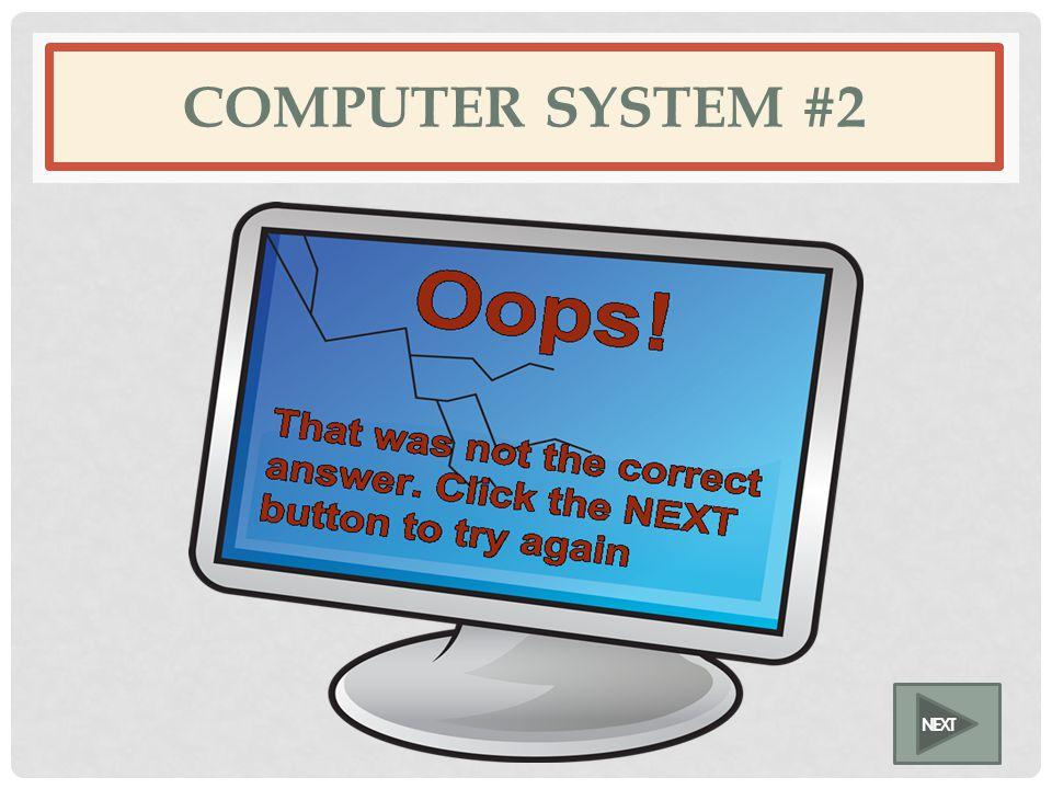 COMPUTER SYSTEM #2 NEXT