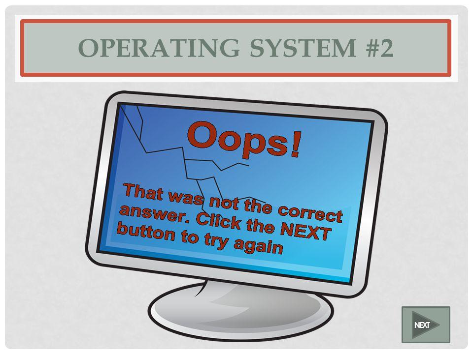 OPERATING SYSTEM #2 NEXT
