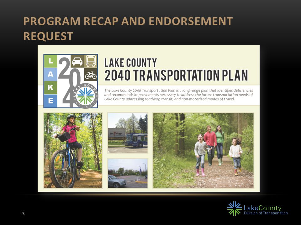 316 miles of new facilities 111 miles LCDOT facilities Primarily off-street shared use paths Emphasis on access to transit and jobs 2040 | NON-MOTORIZED