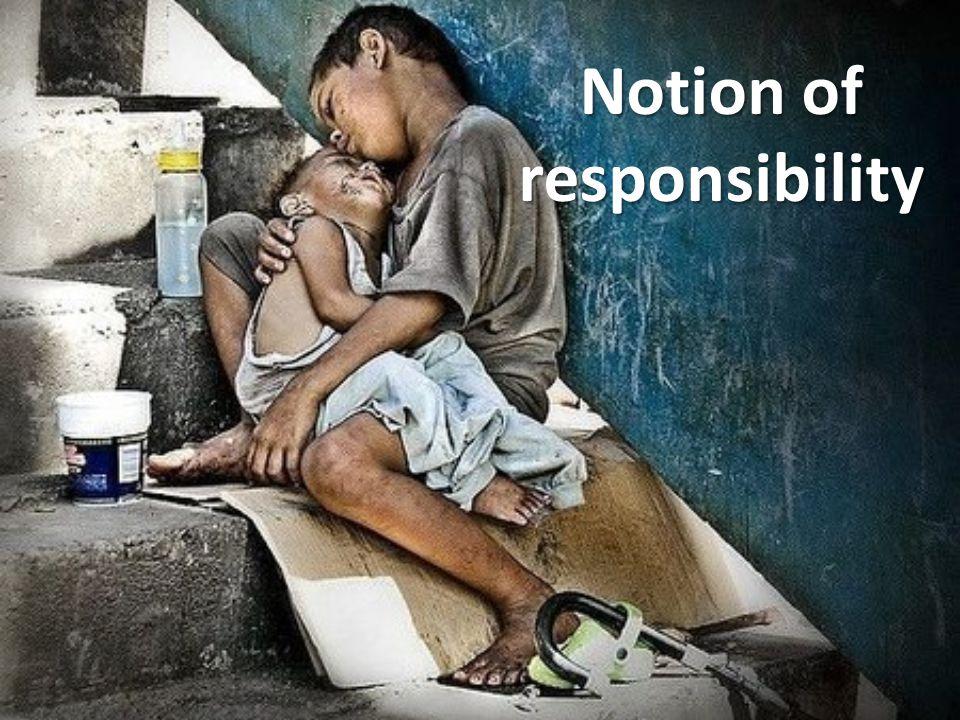 Notion of responsibility
