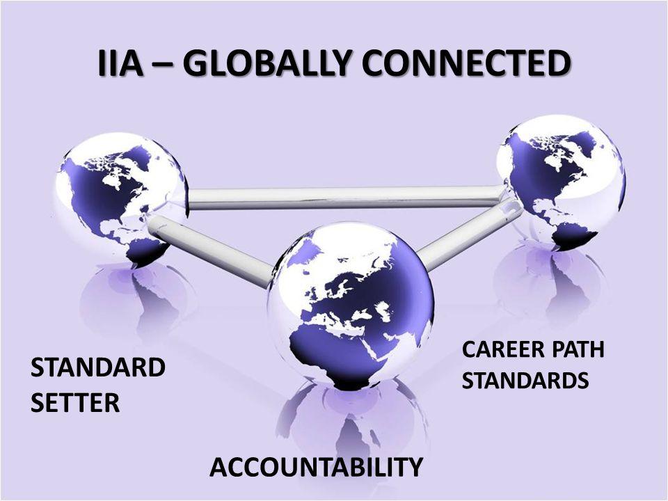 IIA – GLOBALLY CONNECTED STANDARD SETTER CAREER PATH STANDARDS ACCOUNTABILITY