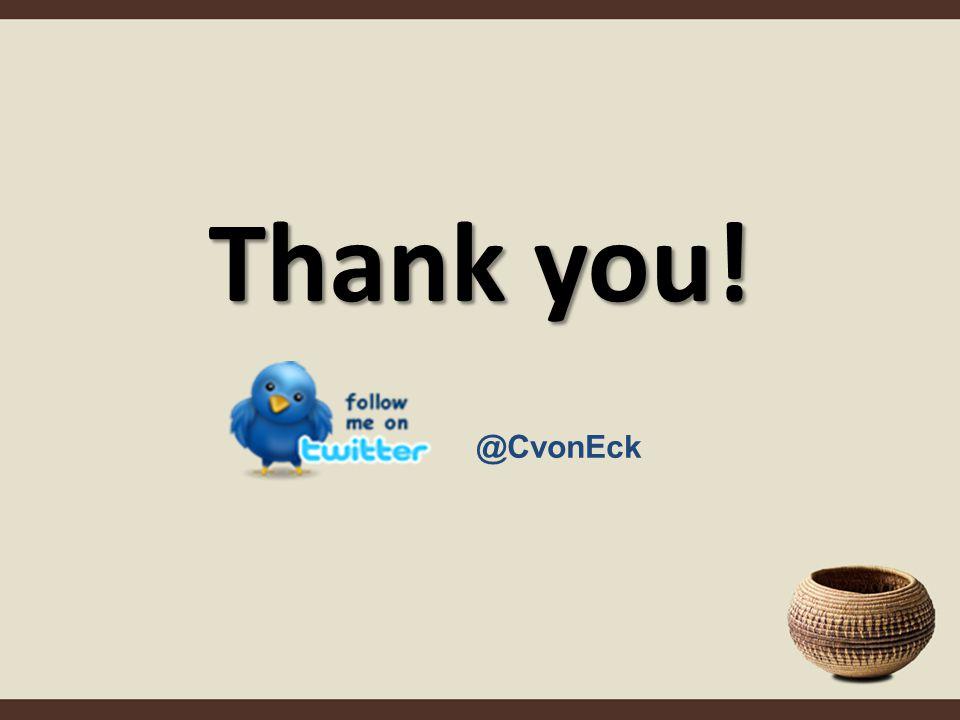 Thank you! @CvonEck