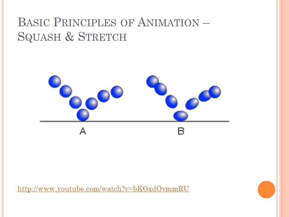 B ASIC P RINCIPLES OF A NIMATION – S QUASH & S TRETCH http://www.youtube.com/watch v=bKGxdOvmmRU